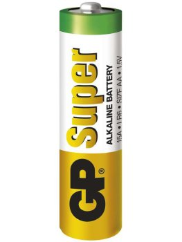 Baterie AA GP Super, alkalická – Baterie do erotických pomůcek a powerbanky