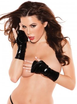Lesklé rukavice bez prstů Naughty Kitten – Sexy rukavice a návleky na ruce