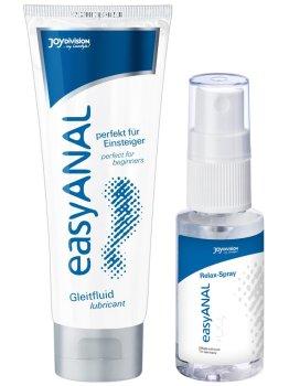 Anální lubrikační gel + relaxační sprej easyANAL – Anální lubrikační gely