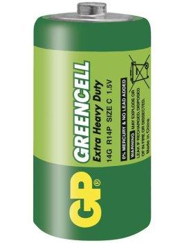 Baterie C GP Greencell, zinkochloridová – Baterie do erotických pomůcek a powerbanky