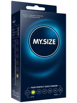 Kondomy MY.SIZE 49 mm, 10 ks – Akční a výhodné balíčky kondomů