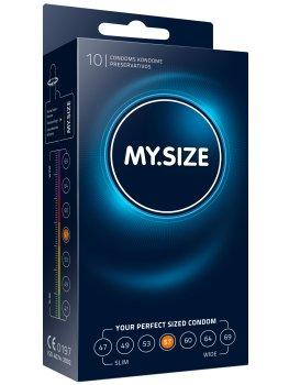 Kondomy MY.SIZE 57 mm, 10 ks – Akční a výhodné balíčky kondomů