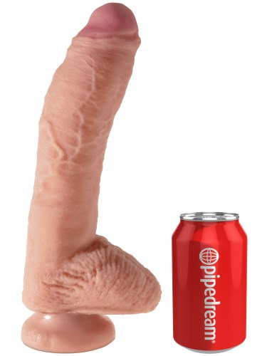 "Realistické dildo s varlaty King Cock Dual Density 10"""