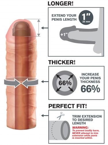 Návlek na penis MEGA, prodlouží o 2,5 cm