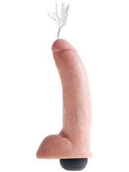 """Stříkající realistické dildo s varlaty King Cock 9"""" – Stříkající dilda"""
