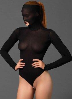Body s maskou na hlavu a perlovým řetízkem v rozkroku – Fetiš a BDSM oblečení a postroje