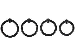 Sada erekčních kroužků s kuličkou Rebel – Nevibrační erekční kroužky