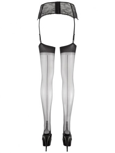 Punčochy na podvazky s černou linkou Cottelli Collection