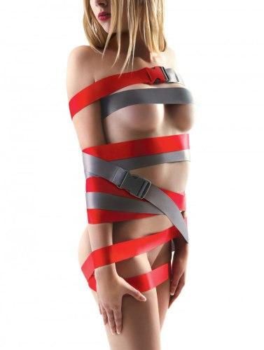Šedé bondage popruhy s přezkami Strap-Ease XL, 2x 2,4 m