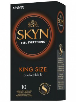 Ultratenké XL kondomy bez latexu SKYN King Size, 10 ks – Kondomy bez latexu