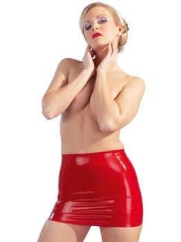 Latexová minisukně, červená – Latexové oblečení pro ženy