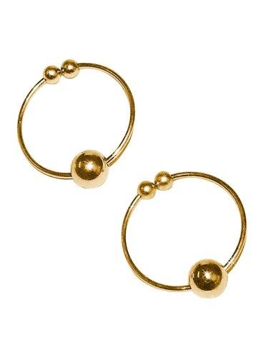 Kroužky na bradavky - falešný piercing, zlaté