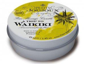 Masážní svíčka A Trip To Waikiki, 43 ml – Svíčky pro uvolňující i erotickou masáž