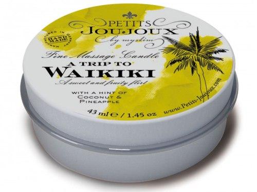Svíčky pro uvolňující i erotickou masáž: Masážní svíčka A Trip To Waikiki, 43 ml