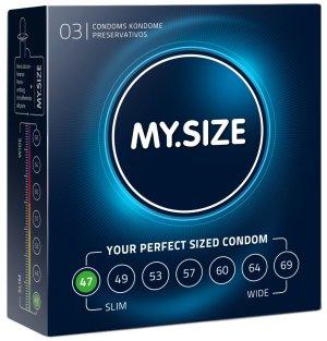 Kondomy MY.SIZE 47 mm, 3 ks – Malé a extra malé kondomy