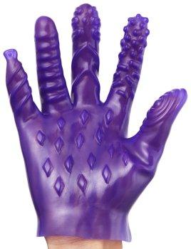 Masturbační rukavice se stimulačními výstupky – Stimulátory bez vibrací pro ženy