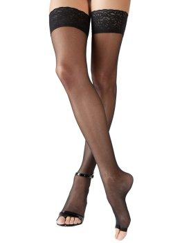 Samodržící punčochy s otevřenou špičkou – Samodržicí dámské punčochy