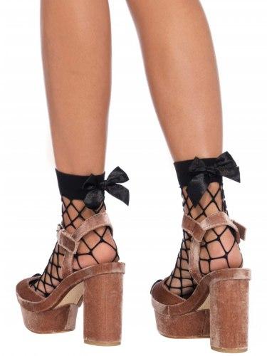 Síťované ponožky s mašličkou Leg Avenue