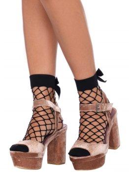 Síťované ponožky s mašličkou Leg Avenue – Dámské sexy ponožky a podkolenky