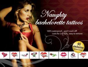 Sada erotických dočasných tetování Naughty Bachelorette – Dočasná vzrušující tetování
