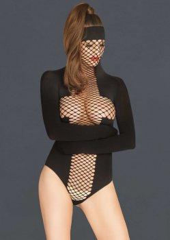 Body s maskou a zavazovacími rukávy – Fetiš a BDSM oblečení a postroje