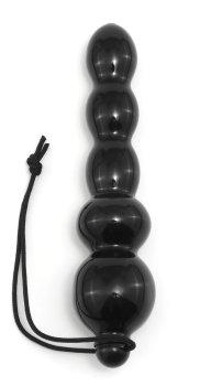 Kuličkové anální dildo Black Jacks – Anální dilda pro muže i ženy