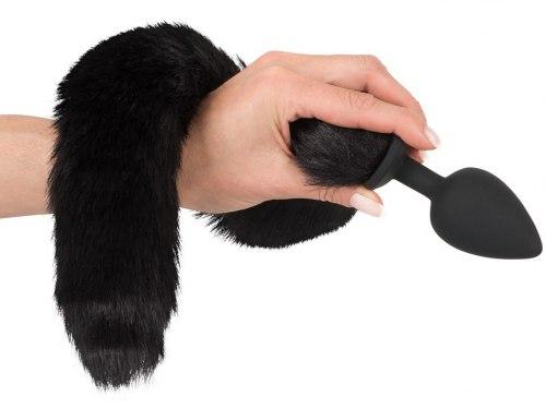 Pet Play Kit - anální kolík s ocáskem a čelenka s ušima