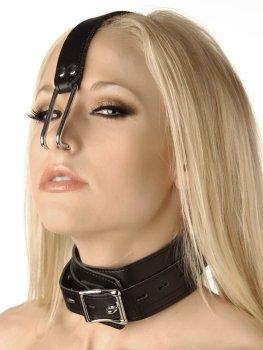 Obojek s kovovými háky do nosu – Obojky a vodítka pro BDSM hrátky