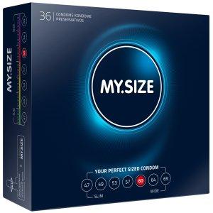 Kondomy MY.SIZE 60 mm, 36 ks – Akční a výhodné balíčky kondomů