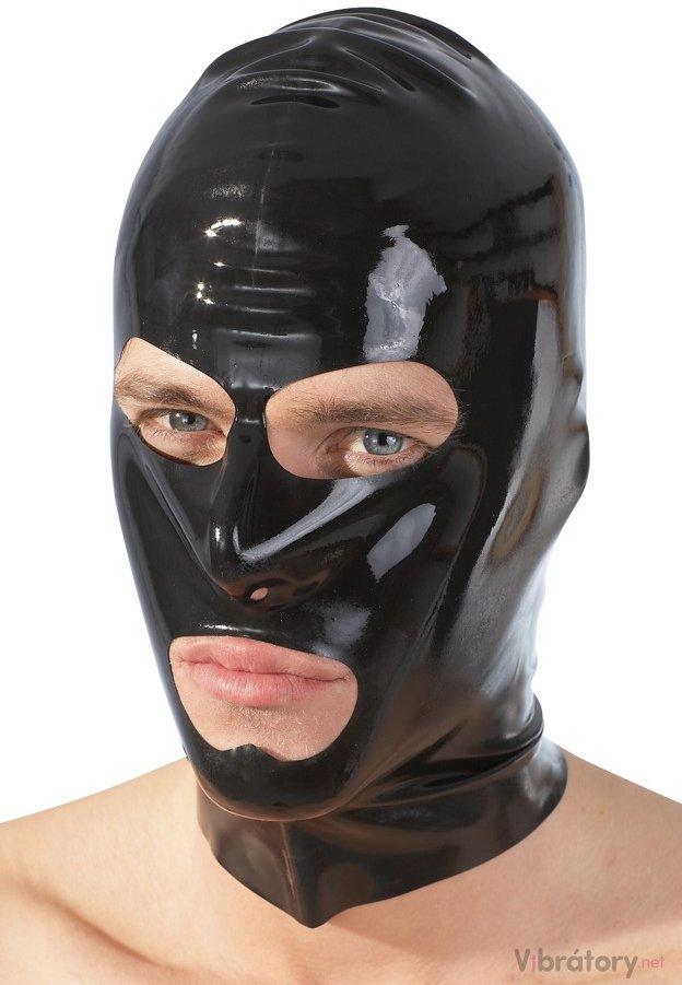 LATE X Latexová maska - černá, unisex