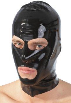 Latexová maska - černá, unisex – Masky, kukly a šátky