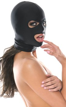 Maska s otvory pro oči a ústa Fetish Fantasy, unisex – Masky na hlavu