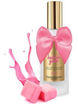 Masážní a lubrikační gel Bijoux Indiscrets 2 v 1 - Bubble Gum – Lubrikační gely na silikonové bázi