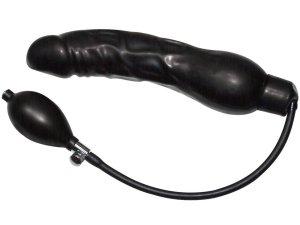 Nafukovací latexové dildo Black Latex Balloon – Erotické pomůcky z latexu