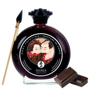 Slíbatelný bodypainting Shunga Aphrodisiac Chocolate – Bodypainting, malování na tělo