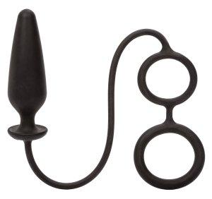 Anální kolík s kroužky na penis a varlata Dr. Joel – Klasické anální kolíky