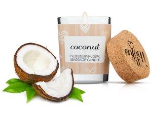 Afrodiziakální masážní svíčka MAGNETIFICO - Enjoy it! Coconut – Svíčky pro uvolňující i erotickou masáž