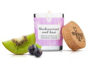 Afrodiziakální masážní svíčka MAGNETIFICO - Enjoy it! Blackcurrant and kiwi – Svíčky pro uvolňující i erotickou masáž
