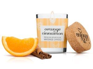 Afrodiziakální masážní svíčka MAGNETIFICO - Enjoy it! Orange and cinnamon – Svíčky pro uvolňující i erotickou masáž