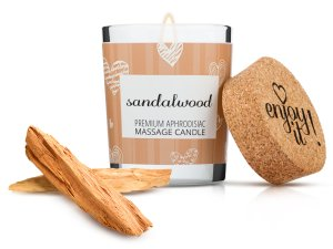 Afrodiziakální masážní svíčka MAGNETIFICO - Enjoy it! Sandalwood – Svíčky pro uvolňující i erotickou masáž