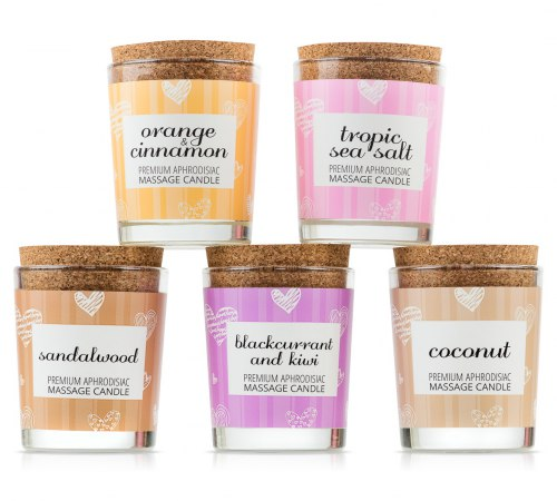 Afrodiziakální masážní svíčka MAGNETIFICO - Enjoy it! Tropic sea salt