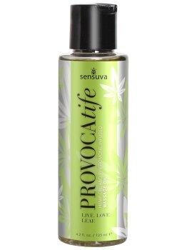 Masážní olej s konopím a feromony Sensuva PROVOCAtife – Erotické masážní oleje a emulze
