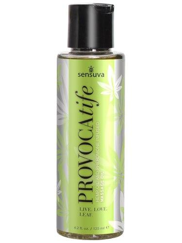Masážní olej s konopím a feromony Sensuva PROVOCAtife