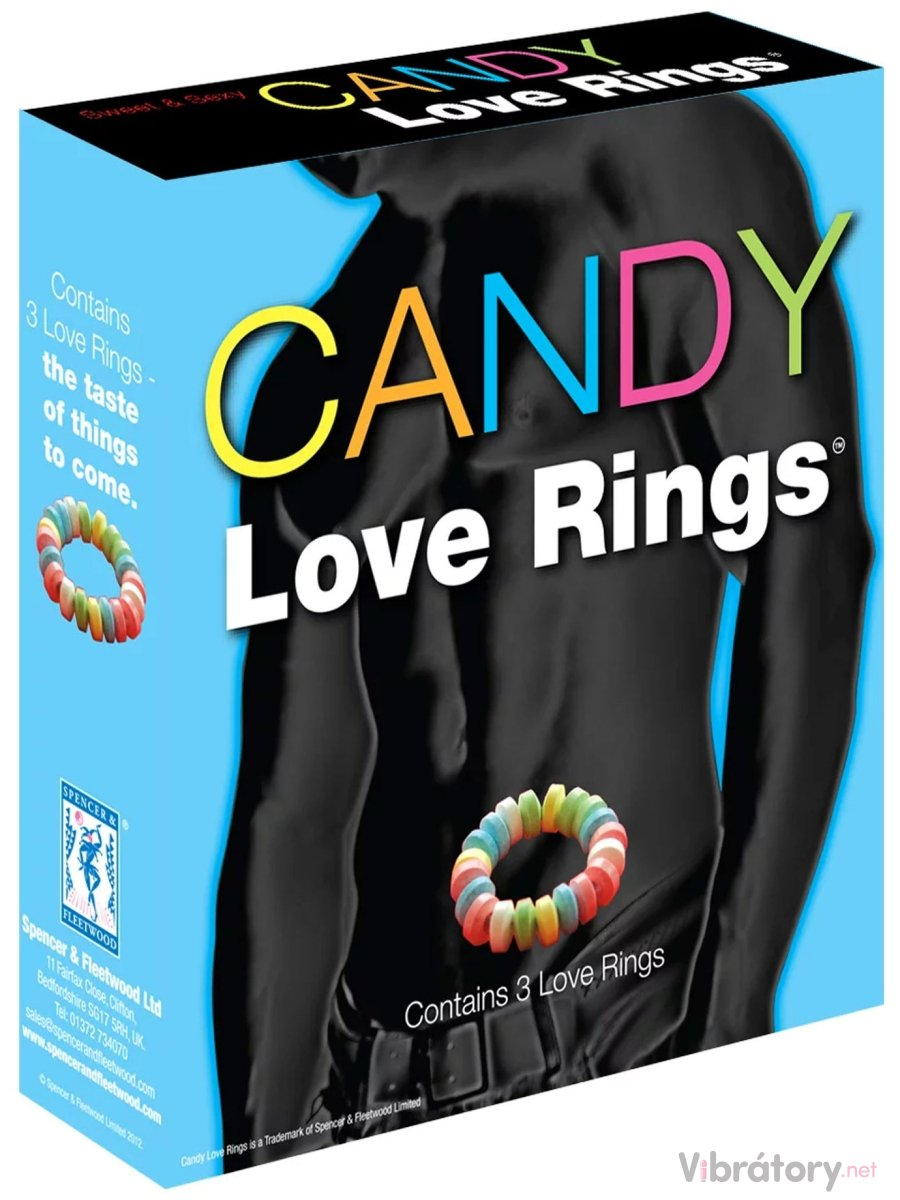 Kroužky na penis z bonbónů Candy Love Rings, 3 ks