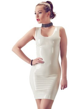 Latexové minišaty, bílé – Latexové oblečení pro ženy