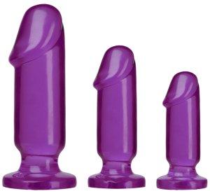 Sada análních kolíků Crystal Jellies Anal Starter Kit – Klasické anální kolíky