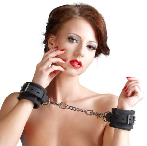 Silikonová pouta na ruce Bad Kitty – Erotická pouta na sex