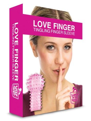 Stimulační návlek na prst s kulatou špičkou Love Finger