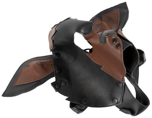 Fetish maska Pes, černohnědá