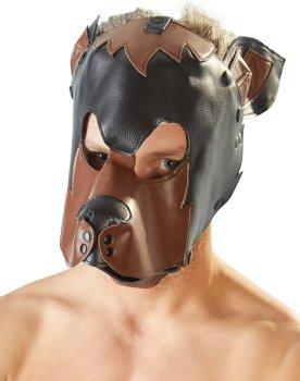 Fetish maska Pes, černohnědá – Masky na hlavu